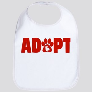 Cute Pets Paw Cat Dog Adopt Red Baby Bib